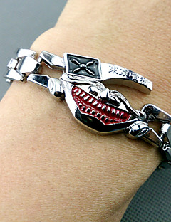 Schmuck Inspiriert von Tokyo Ghoul Cosplay Anime Cosplay Accessoires Armbänder Rot / Silber Legierung Mann