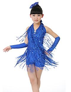 hesapli -latin dans elbiseleri çocuk polyester / püskül kıyafeti çocuk dans kostümleri by shall®