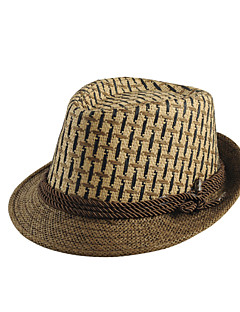 cheap Fashion Hats-Men's Vintage Straw Hat Sun Hat - Solid Colored