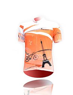 זול חולצות רכיבת אופניים-חולצת ג'רסי לרכיבה יוניסקס שרוול קצר אופניים ג'רזי צמרות ייבוש מהיר עמיד אולטרה סגול חדירות ללחות נגד חשמל סטטי נושם פוליאסטר אופנתיאביב
