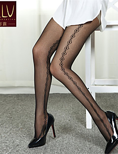 SKLV Women's Mesh/Nylon Thin Cut Out Translucence Vintage Pantyhose