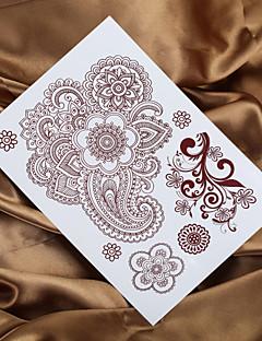 4db 2016 női indiai henna tetoválás mendhi festmény tetoválás hamis tatto ideiglenes tetoválás matrica