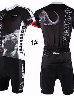 billige Sykkelklær-ILPALADINO Herre Kortermet Sykkeljersey med shorts - 4# / 5# / 6# Dyr Sykkel Shorts / Jersey / Klessett, Pustende, Fort Tørring, Ultraviolet Motstandsdyktig Dyr / Elastisk