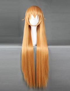billige Anime cosplay-Cosplay Parykker Shokugeki ingen Soma Cosplay Oransje Medium Anime Cosplay Parykker 70 CM Varmeresistent Fiber Mann / Kvinnelig