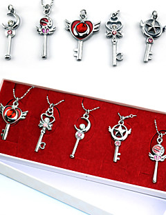 cheap Anime Cosplay Accessories-Jewelry Inspired by Sailor Moon Sailor Moon Anime Cosplay Accessories Necklaces Alloy Women's New