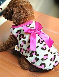 billiga Hundkläder-Katt Hund T-shirt Hundkläder Rosett Röd Rosa Polär Ull Kostym För husdjur Herr Dam Ledigt/vardag