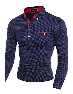 olcso -férfi hosszú ujjú póló, pamut alkalmi daliy plaids& ellenőrzések
