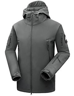 Herre Unisex Softshell-jakke Vanntett Hold Varm Fort Tørring Vindtett Isolert Regn-sikker Anvendelig Pustende Utendørs Vinterjakke