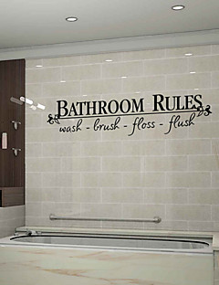 hesapli Çizgi Film Duvar Çıkartmaları-duvar çıkartmaları duvar çıkartmaları tarzı banyo ingilizce kelimeleri kuralları&pvc duvar çıkartmaları tırnak