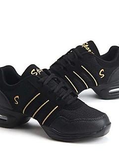 hesapli -Kadın's Dans Sneakerları / Balo Kumaş / Tüylü Spor Ayakkabı Kalın Topuk Kişiselletirilmemiş Dans Ayakkabıları Pembe / Altın / Mor