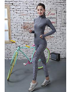 billiga Träning-, jogging- och yogakläder-Dam Baslager / Tights för jogging / Gymleggings - Röd, Blå, Grå sporter Enfärgad Cykling Tights Sportkläder Snabb tork