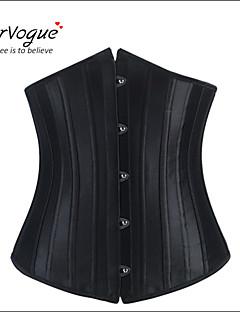 baratos Corpetes-Mulheres Fivela Vestido com Corpete - Sólido