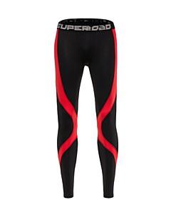 billiga Träning-, jogging- och yogakläder-Herr Lappverk Baslager / Tights för jogging / Gymleggings - Röd, Grå sporter Cykling Tights Sportkläder Snabb tork