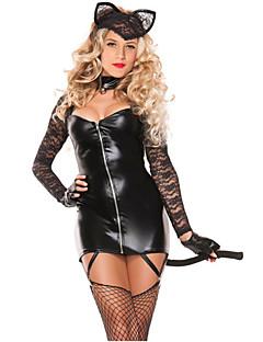 Bunny Jenter karriere Kostymer Cosplay Kostumer Party-kostyme Kvinnelig Halloween Karneval Festival / høytid Halloween-kostymer Svart