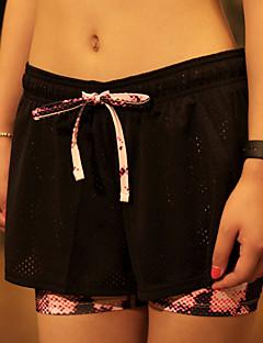 billige Løbetøj-Dame Løbeshorts - Sort + Lilla, Sort / lyserød, Sort / Roserød Sport Shorts / Bukser / Hængende Shorts Yoga, Pilates, Træning & Fitness