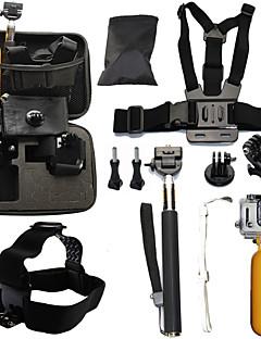 Telescopic Pole チェストストラップ ヘッドストラップ バッグ ストラップ 取付方法 防水 フローティング ために アクションカメラ ゴプロ6 フリーサイズ Gopro 5 Gopro 4 Session Gopro 4 Gopro 3 Gopro 3+