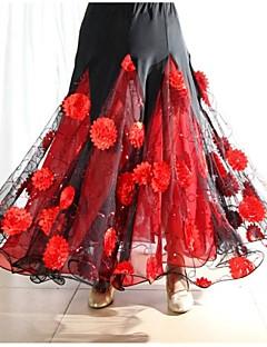 ボールルームダンス ドレス 女性用 演出 スパンデックス ドレープ 1個 スカート