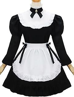 ワンピース ドレス メイド服 クラシック/伝統的なロリータ ロリータ コスプレ ロリータドレス ブラック パッチワーク 長袖 ドレス ために
