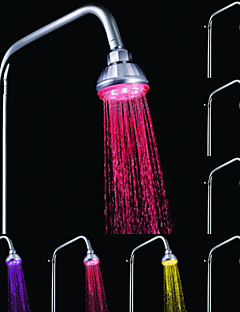 Contemporary Rain Shower Chrome Feature-LED , Shower Head