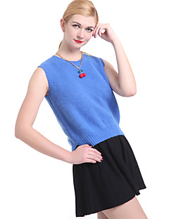 cheap Women's Sweaters-Women's Sleeveless Vest - Solid Colored