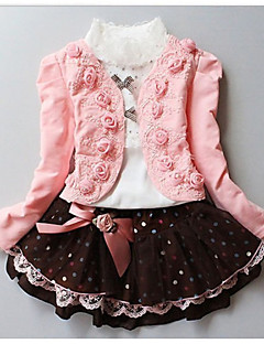 billige Tøjsæt til piger-Pige Indstiller Blomstret,Bomuld Efterår Vinter Langærmet Tøjsæt
