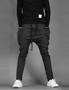 Men's Mid Rise Stretchy Slim Sweatpants Pencil Pants,Active Slim Sweatpants Pencil Solid