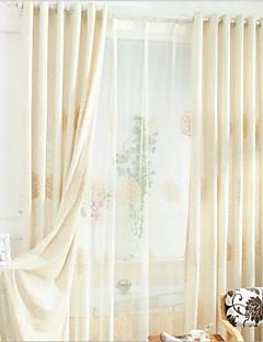 Χαμηλού Κόστους Κουρτίνες Αγροτικού Στυλ-κουρτίνες κουρτίνες Υπνοδωμάτιο Μείγμα Λινο / Βαμβάκι Κεντήματα