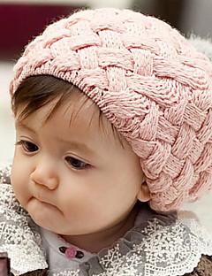 tanie Akcesoria dla dzieci-Kapelusze i czapki - Dla dziewczynek Dla chłopców - Zima - Nylon Inne Dzianina - Opaski na głowę - Black Beige Brown Czerwony Różowy