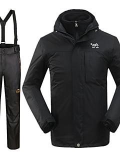 男性用 ハイキングジャケット(パンツ付き) 防水 保温 防風 冬物ジャケット 3-in-1 ジャケット 洋服セット トップス のために スキー スノースポーツ キャンピング&ハイキング 冬 S M L XL XXL