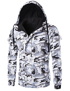Men's Padded Coat,Simple Casual/Daily Camouflage-Cotton Cotton Long Sleeve