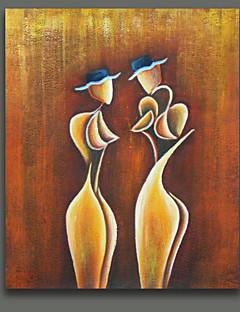 baratos Retratos Abstratos-Pintados à mão Retratos AbstratosEstilo Europeu 1 Painel Tela Pintura a Óleo For Decoração para casa