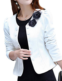 cheap Women's Blazers & Jackets-Women's Work Sophisticated Plus Size Blazer-Solid Colored