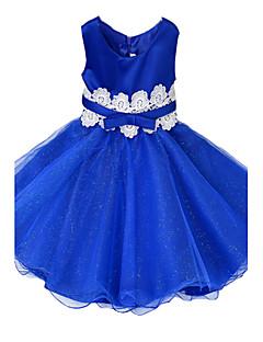 お買い得  子供用ファッション-女の子 ジャカード コットン ポリエステル ドレス オールシーズン ノースリーブ フローラル ドレスウェア フクシャ レッド グリーン ピンク ネービーブルー