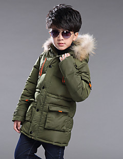 cheap Boys' Jackets & Coats-Boy's Going out Solid Down & Cotton PaddedCotton Winter / Fall Black / Green / Red