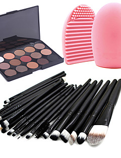 cheap Makeup Brushes-15 Shadow Others Makeup Brushes Dry Matte Shimmer Mineral Eye Fast Dry Long Lasting Natural Waterproof Travel Eco-friendly Professional