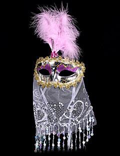 billige Halloweenkostymer-Karneval Maske Unisex Halloween Karneval Festival / høytid Halloween-kostymer Gull Rød Rosa Lilla Rose