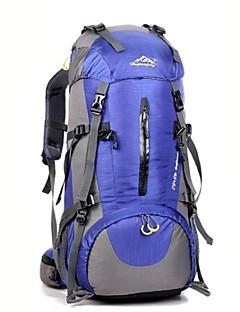 50 L バックパッキング用バックパック ハイキング用デイパック バックパック キャンピング&ハイキング 登山 フィットネス 旅行 防水 断熱 防塵 耐久性 コンパクト ナイロン オックスフォード 防水素材 テリレン