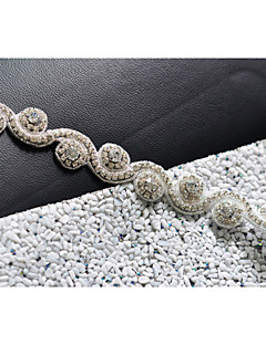 cheap Wedding Ribbons and Sashes-Satin Wedding Party / Evening Dailywear Sash With Rhinestone Crystal Beading Women's Sashes