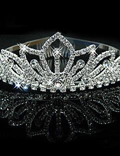 저렴한 웨딩 악세사리-여성 라인석 크리스탈 합금 투구-웨딩 특별한날 왕관 1개
