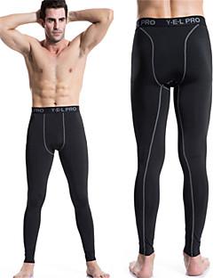 billige Løbetøj-Herre Løbebukser Hurtigtørrende, Komprimering Leggins / Tights / Underdele Yoga / Træning & Fitness / Racing Polyester, Elastin Grøn /