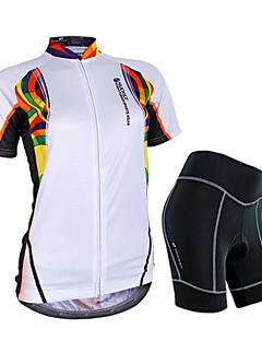 Nuckily Sykkeljersey med shorts Dame Kort Erme Sykkel Ermer Jersey Shorts KlessettVanntett Regn-sikker Anti-Stråling Pustende 3D Pute