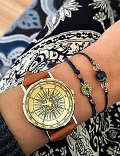 女性用 ファッションウォッチ ブレスレットウォッチ ダミー ダイアモンド 腕時計 クォーツ 模造ダイヤモンド PU バンド ブラック 白 ブラウン グリーン カーキ