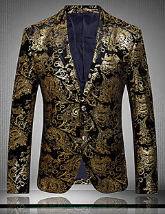 cheap Outlets-Men's Club Exaggerated Sophisticated Plus Size Cotton Slim Blazer Print