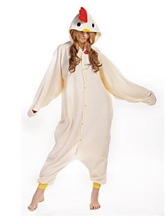 billige Kigurumi-Kigurumi-pysjamas Hane/høne Onesie-pysjamas Kostume Polar Fleece Beige Cosplay Til Voksne Pysjamas med dyremotiv Tegnefilm Halloween