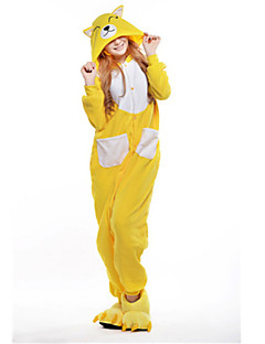 1aa4b671ef Adults  Kigurumi Pajamas Fox Animal Onesie Pajamas Polar Fleece Yellow  Cosplay For Men and Women Animal Sleepwear Cartoon Festival   Holiday  Costumes