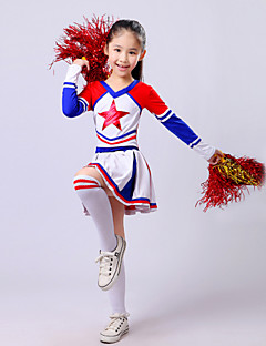Shall We Cheerleader Costumes Children Fashion Performance Polyester 2 Pieces Outfits