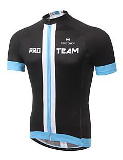 זול בגדי רכיבת אופניים-XINTOWN בגדי ריקוד גברים שרוולים קצרים חולצת ג'רסי לרכיבה - שחור צהוב אופניים ג'רזי, ייבוש מהיר, עמיד אולטרה סגול, נושם
