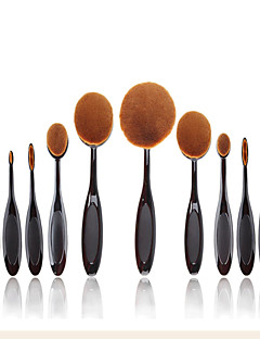 10Conjuntos de pincel / Pincel para Blush / Pincel de Sombrancelha / Pincel para Pó / Pincel para Base / Outra Escova / pincel para