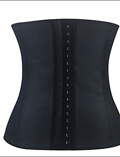 Shaperdiva Women's Sexy Waist Training Cincher Underbust Black Slim Corset Sport Latex Body Shaper