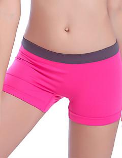 Dame Løbeshorts Hurtigtørrende Fugtpermeabilitet Høj Åndbarhed Åndbart Komprimering Bukser Underdele Yoga Træning & Fitness Fritidssport